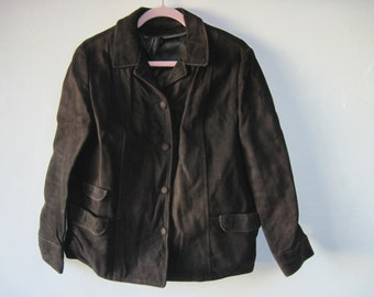 Vintage womans Brown Suede Jacket