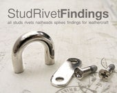 4pcs 10mm ZINC SCREW BACK D-ring Purse Hardware Finding for Purse Ring, Clasps Hook Ring / High Quality