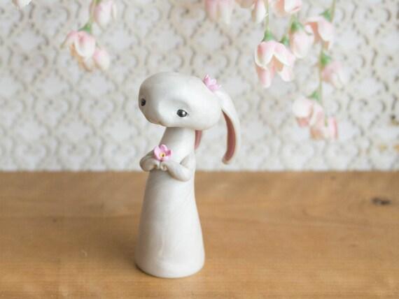 White Rabbit Figurine by Bonjour Poupette