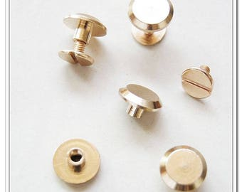 20 sets 9mm x 6mm Golden screws rivets Chicago screw/Concho screw