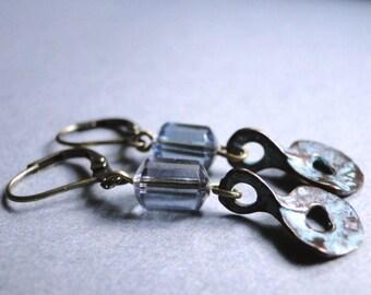 Jewelry, Earrings, Dangle Earrings, Holiday Gift, Vintage Glass Earrings, Drop Earrings, Every Day Earrings,