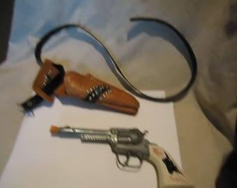 Vintage Gabriel Toy Cap Pistol Gun With Holster, collectable