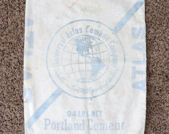 Atlas Portland Cement Sack Globe