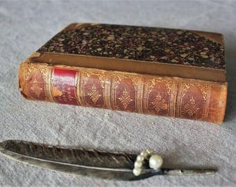 The Poetical Works of Sir Walter Scott Antique Leather Bound Book 1876