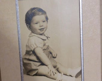 Going Out Of Business Antique Cabinet Photograph-Precious Baby Boy