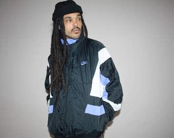 90s Vintage Nike Colorblock Hip Hop Windbreaker Jacket - 1990s Nike - 90s Clothing - MV0085