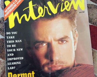 Vintage 1990s Magazine INTERVIEW 1997 Dermot Mulroney On Cover Peter Fonda Eddie Van Halen Notorious B.I.G. Great Designer Ads Versace Etc