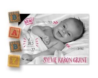 Customizable Birth Announcement | NEW! Baby