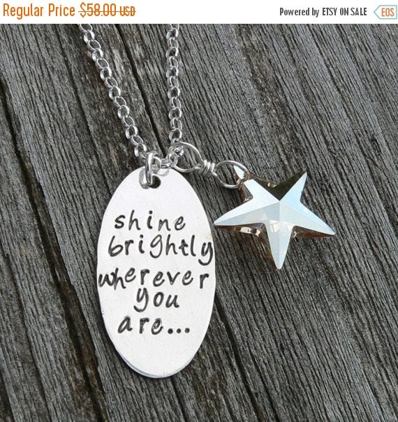 20% OFF - Shine Brightly Wherever You Are...Graduation necklace