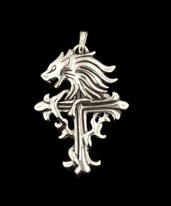 Squall Leonhart pendant from Final Fantasy 8 in sterling silver