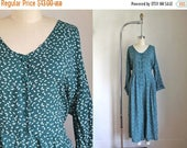 40% OFF anniversary sale 50 Percent OFF...last call // vintage 1980s jumpsuit - JUMPING Bunnies teal printed romper / xxl