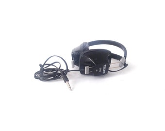 BLACK vintage 60s 70s STEREO headphones
