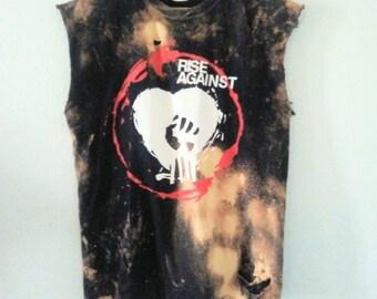 Rise Against TShirt / Muscle Tee / Band Shirt / Graphic Tee / Distressed / Festival / Indie / Rocker Tee / Punk Rock / Unisex / Women / Men
