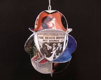 Beach Boys Album Cover Ornament Made Of Repurposed Record Jackets