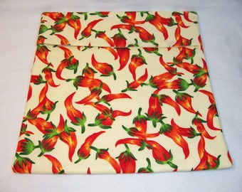 Handmade Bake Potato Bag,Peppers,Microwave Potato Bag,Gifts,Kitchen and Dining,Dining and Serving