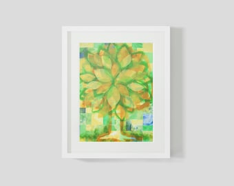 Mixed Media  Tree of Life Print