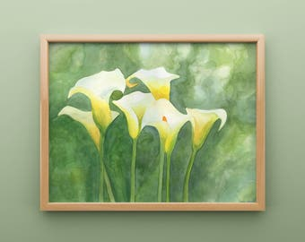 Calla Lilly Watercolor Print