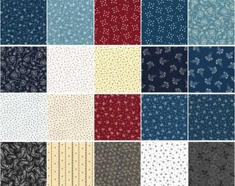 Fat Quarter Cotton Quilt Fabric Bundle Paintbrush Studio Vintage Shirting Patterns