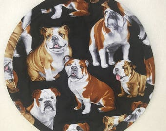English Bulldog Dog Fabric Pot Holder (One)