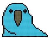 Party Parrot - Cross Stitch Pattern - Instant Download PDF