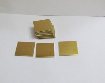 5/8 x 5/8  Square Blanks - 22G Brass  - Hand stamping  metal blanks - square blanks - metal supplies - brass blanks