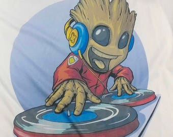 DJ Baby Groot shirt - I Am Groot - Baby Groot - Guardians of the Galaxy - Marvel shirt - Meents Illustrated - awesome shirt - GotG shirt