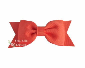 Coral Hair Bows, Baby Girl Hair Accessories, Baby Bows, Birthday Gift for Girls, Bow Hair Clips, Toddler Bows, Girls Bow Clips
