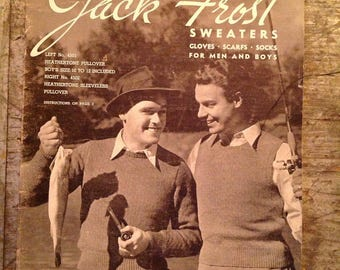 Vintage 1947 Jack Frost Sweaters Knitting Pattern Book Volume 45