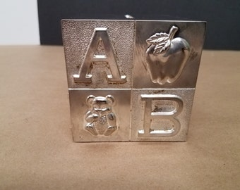 Metal ABC Block Bank