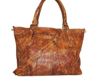 Leather Tote Bag, Leather Handbag, Leather Crossbody Bag, Laptop Bag IPad bag tote, Leather Shopper, Leather Purse, Distressed brown, Nora L