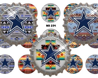 "Native American Inspired ~  Cowboys ~ Instant Download ~ Set of 15 1"" Digital Bottle Cap Images ( NA 294)"