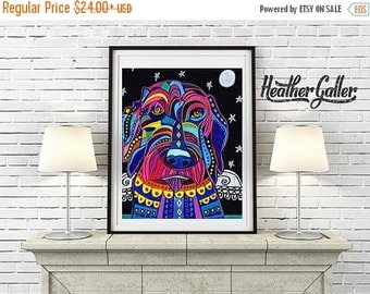 50% Off Today- Labradoodle Angel Art Dog art Art Print Poster by Heather Galler (HG558)