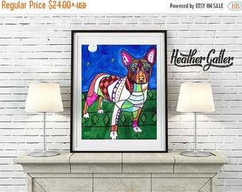 50% Off Today- Teddy Roosevelt Terrier art Art Print Poster by Heather Galler (HG866)