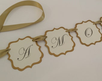 Amore Wedding Banner Wedding Reception Decoration and Photo Prop Prepared in your Wedding Colors