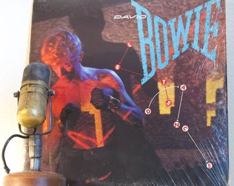 """ON SALE David Bowie (with Stevie Ray Vaughn) Vintage Vinyl LP 1980s Rock """"Let's Dance"""" (1983 Rare Record club issue w/ """"China Girl"""", """"Modern"""