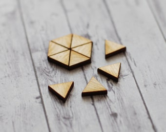 Triangle earring findings, Triangle findings for studs, geometric jewellery supplies, scrapbooking supplies, triangle confetti, Set of 10