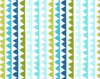 Michael Miller Pets A Plenty Zipper Stripe Aqua fabric - 1 yard