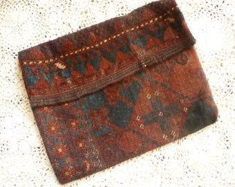1970's Vintage Kilim Large Oversized Clutch Bag Tapestry Carpet Bag