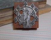 Dancing Among the Stars Love Wood Block Industrial Stamp