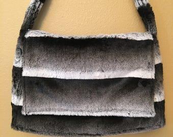 Messenger #1733, Faux Fur Bag, Faux Fur Messenger Bag, Lap Top Bag, Briefcase, Shoulder Bag, Cross Body Bag, Cross Body Messenger Bag, Bags