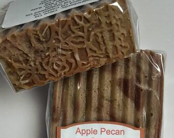 Apple Pecan handmade soap
