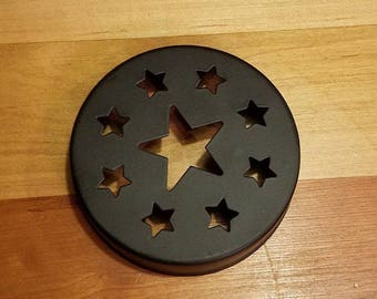 Black Lid Star Cut Out Lid, Black Lids, Weddings Supplies, Crafts Supplies, Candle Supplies, Pary Supplies, Candle Jar Lid