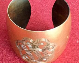 Cool Vintage 70s Cooper Bracelet Cuff