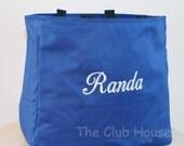 Personalized Diaper Bag, Large Bag Zipper Closure, Daycare Bag, Monogrammed Tote Bag
