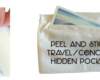 Undercover Pocket - hidden pocket for concerts and travel