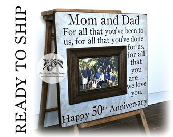 Parents Anniversary Gift, 50th Anniversary Gifts, For All That You Have Been To Us, Anniversary Frame, Ready To Ship 16x16 THE SUGARED PLUMS