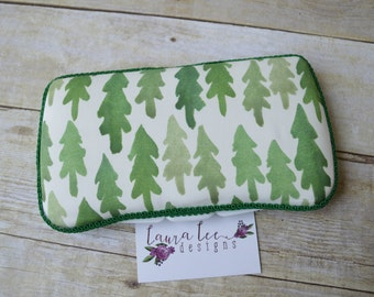 Evergreen Trees Travel Baby Wipe Case, Forest, Personalized Wipe Holder, Monogram Case, Baby Shower Gift, Woodland Diaper Bag Wipe Clutch