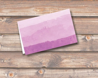 """Purple Watercolor Ombre Place Cards Printable Food Tags Menu Place Card Wedding Baby Shower Birthday 3.5 x 2.25"""" Tent Style INSTANT DOWNLOAD"""