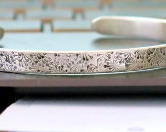 Silver Cuff Bracelet, Campo di Fiori, Silver Stacking Bracelets, Cuff Bracelet, Handmade Cuff, Boho Chic, Silver Jewelry, Venexia Jewelry
