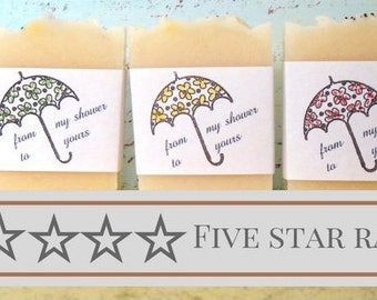 Umbrella Bridal Shower Favors, Bulk Pricing, Wedding Shower, Wedding Favors, Party Favors, Handmade Soap